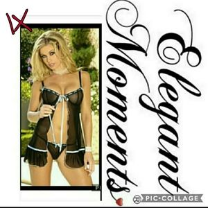 PLUS SIZE 1X babydoll with matching thong